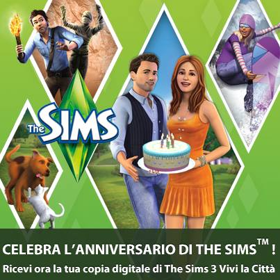 14 anni the sims regalo origin the sims 3 vivi la citta