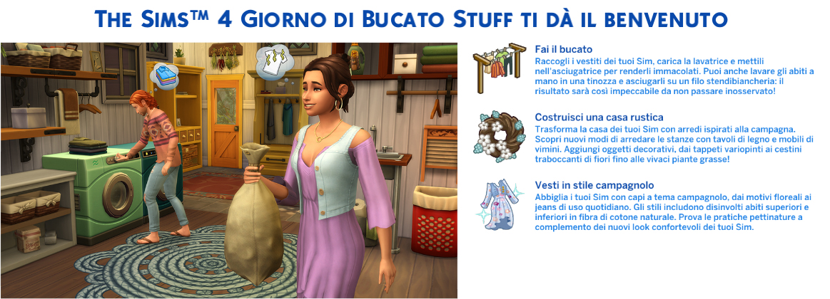 The Sims 4 Giorno di Bucato Stuff Pack