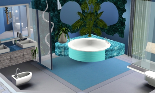 Villa con giardino interno il mondo di the sims a for Case the sims 3 arredate