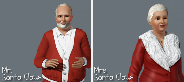 mr e mrs santa claus