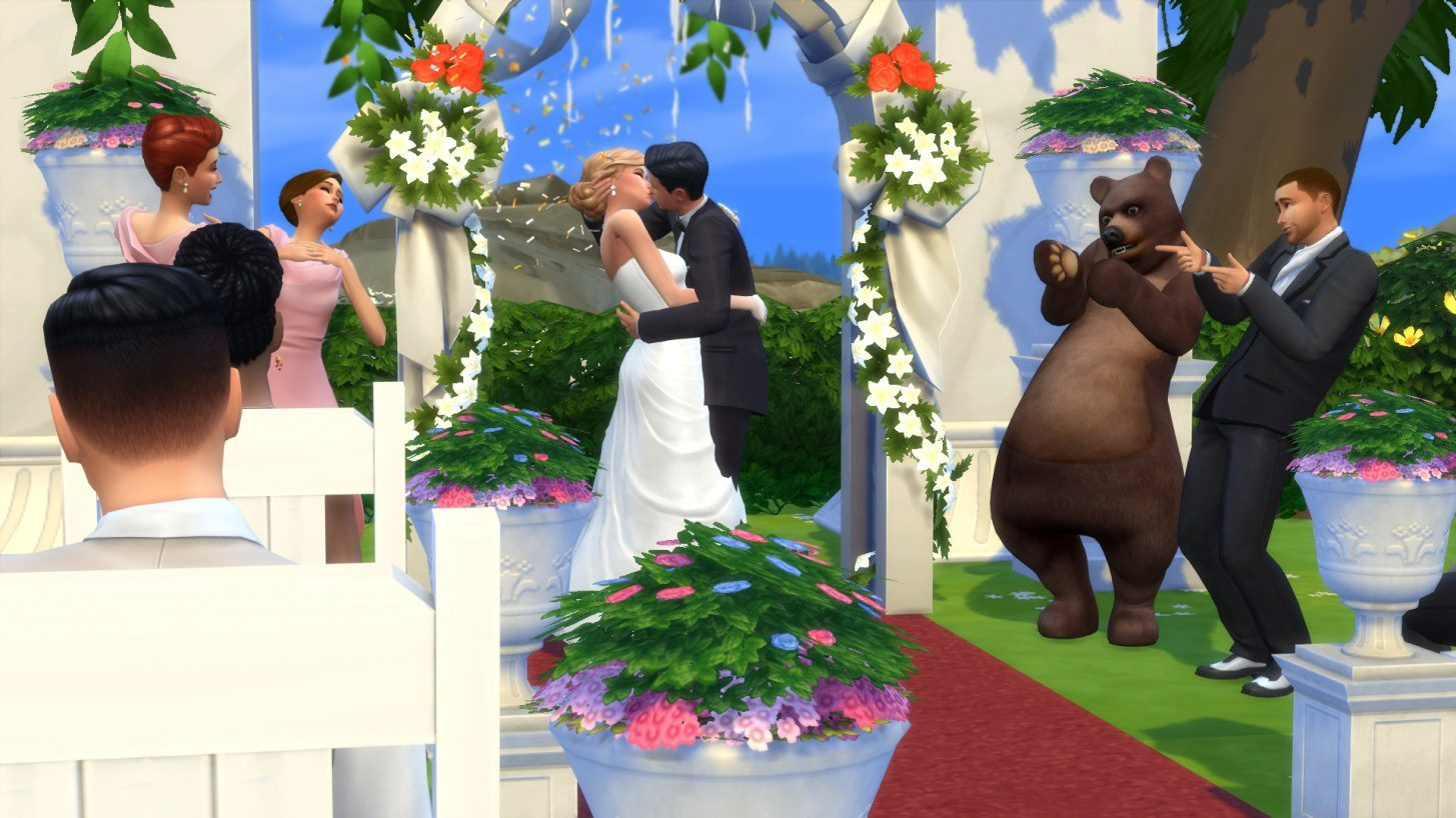 sims royal wedding