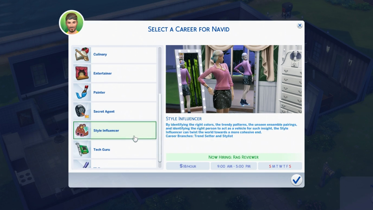 The Sims 4 Nuova Carriera