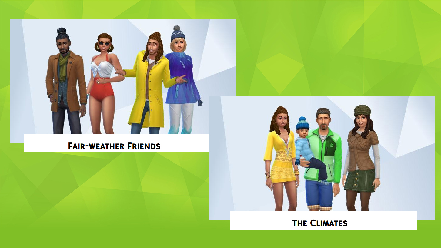 The Sims 4 Stagioni Famiglie