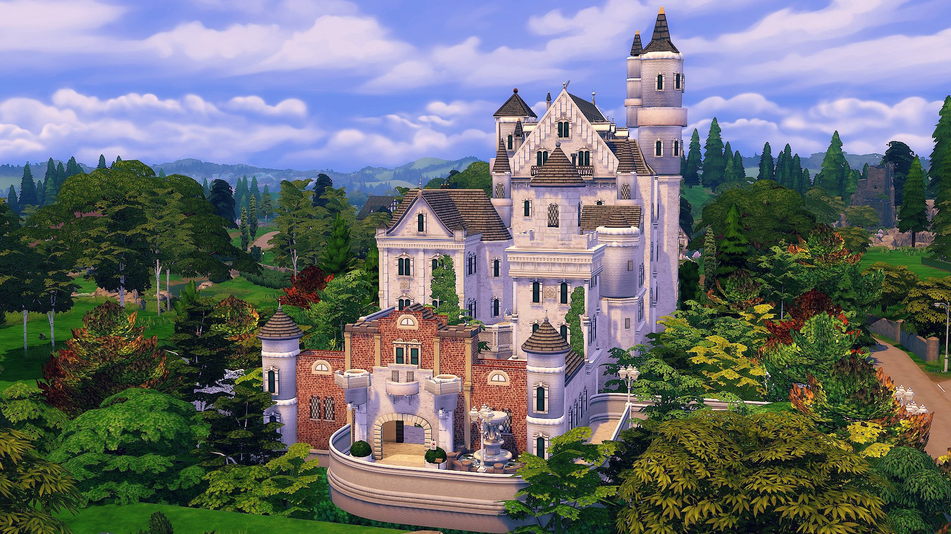 The Sims Community Neuschwanstein Castle