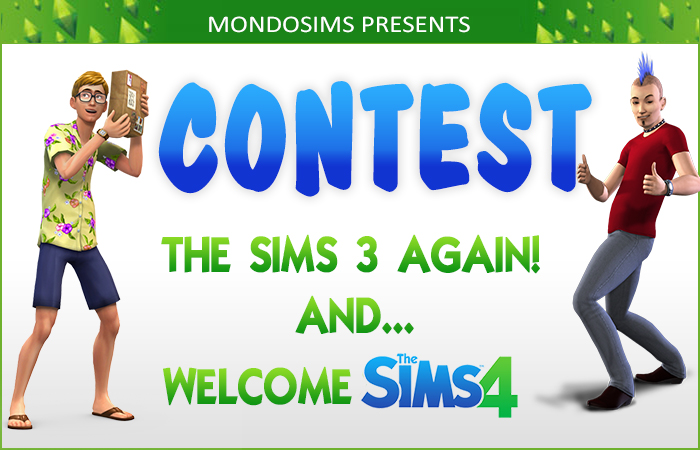 contest sims3 sims4 august 2014