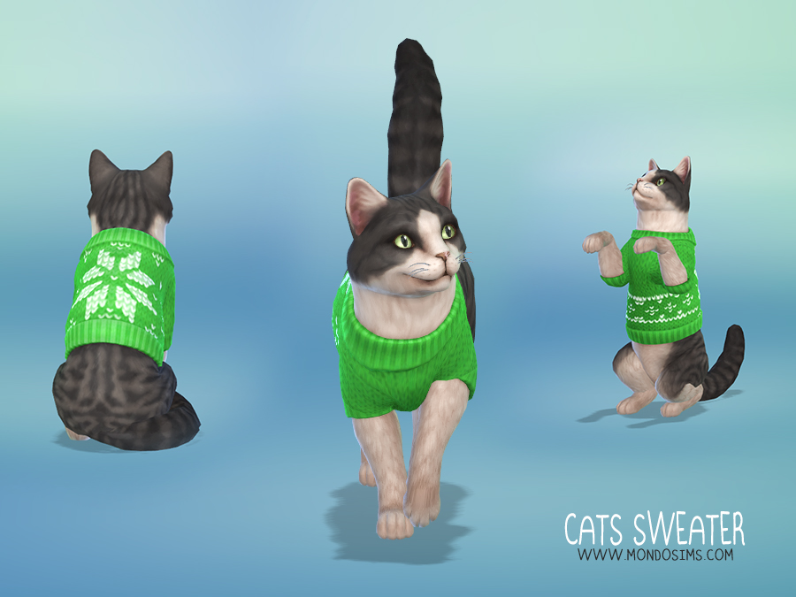 MondoSims XMAS Cats Sweater