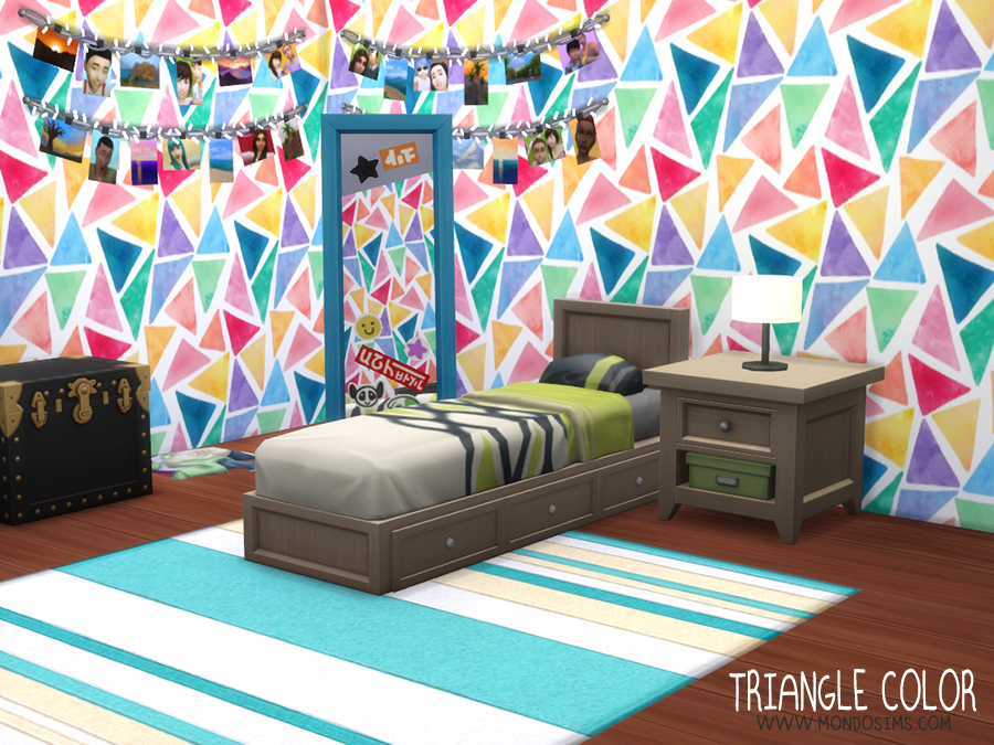 mondosims triangle colors walls