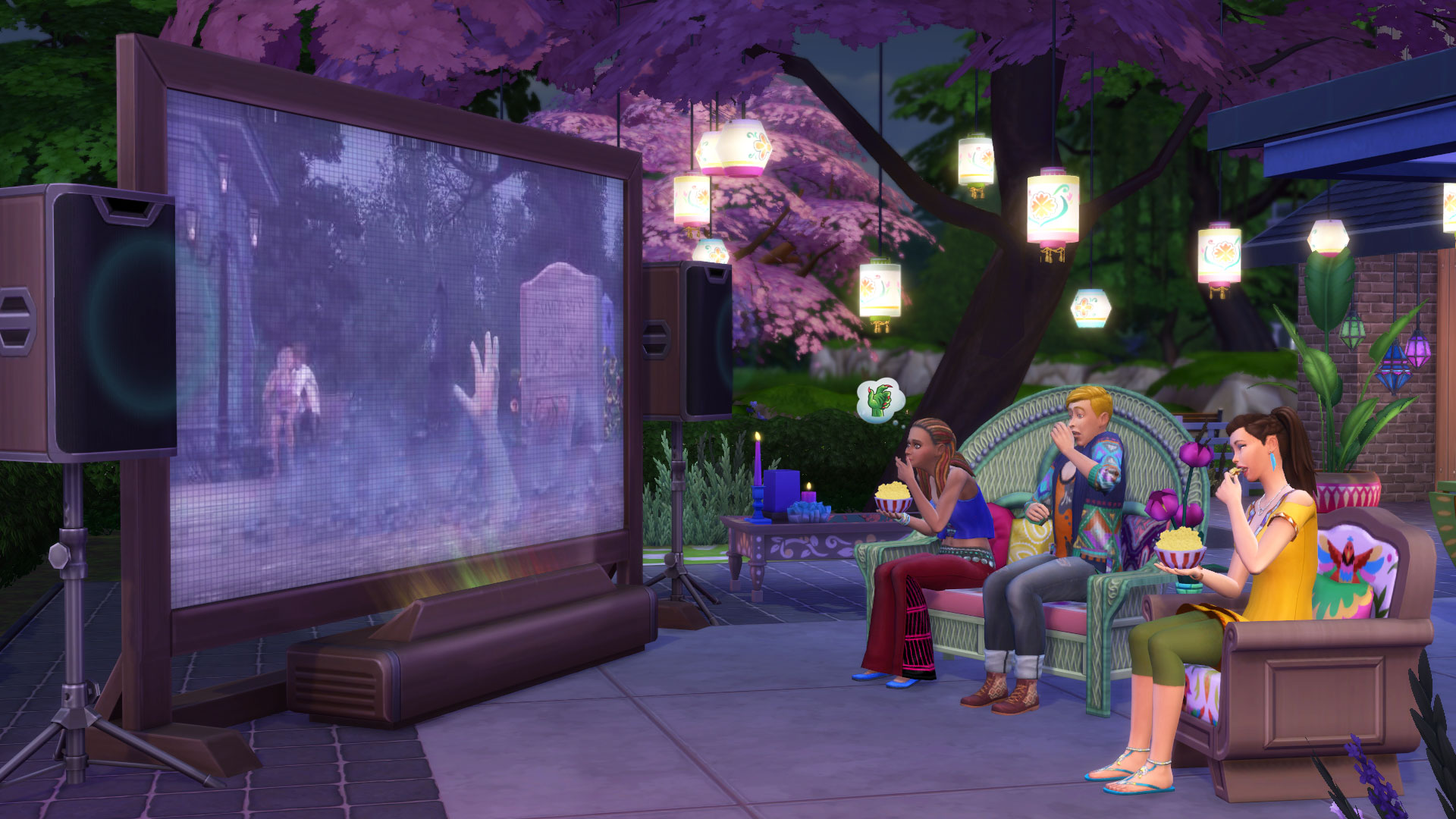 The Sims 4 Serata Cinema Console