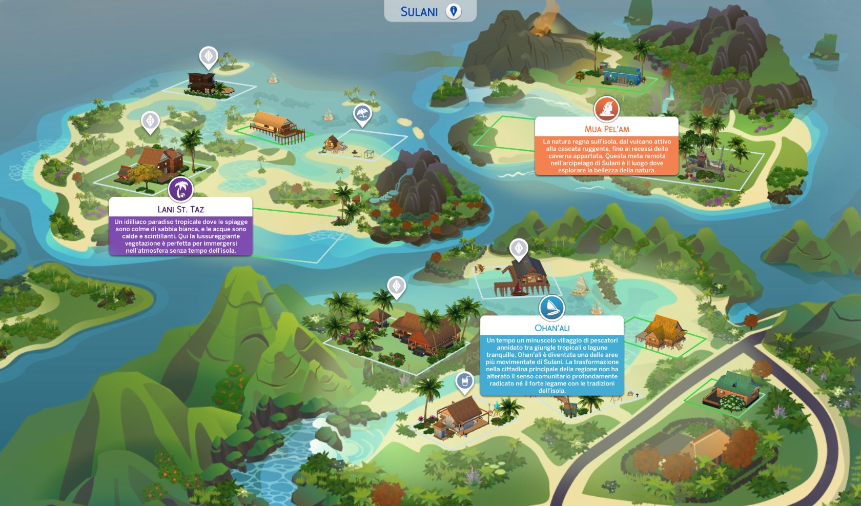 the sims 4 Vita Sull'Isola review Sulani Map