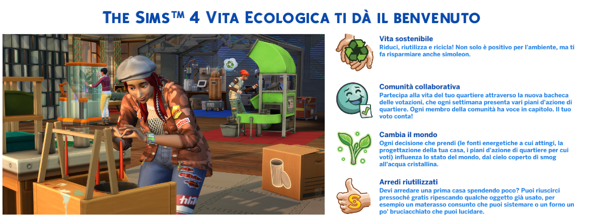 the sims 4 Vita Ecologica Review Benvenuto