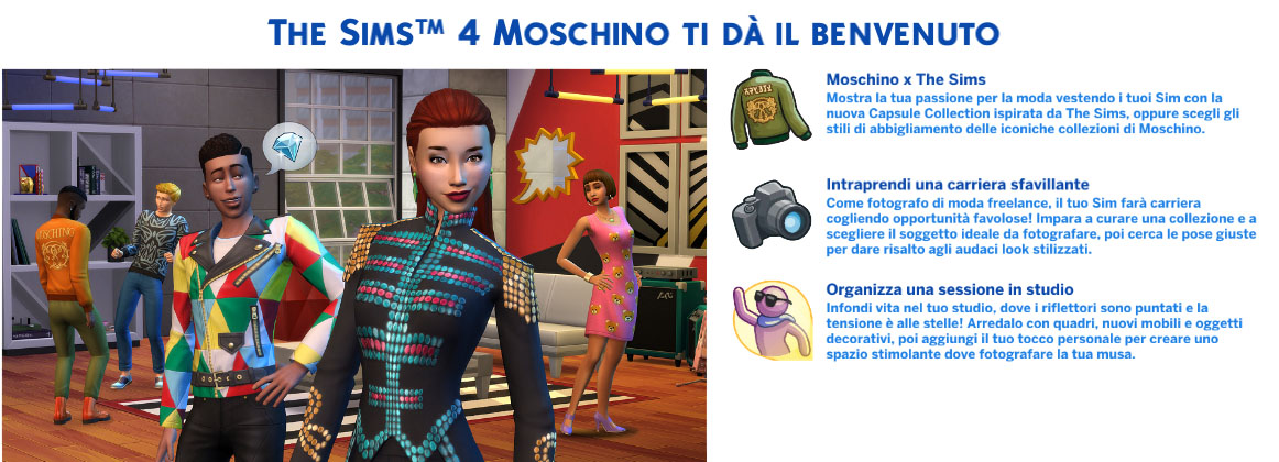 the sims 4 Moschino Stuff review benvenuto