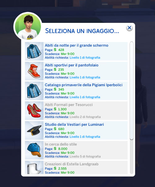 the sims 4 Moschino Stuff review freelancer ingaggio