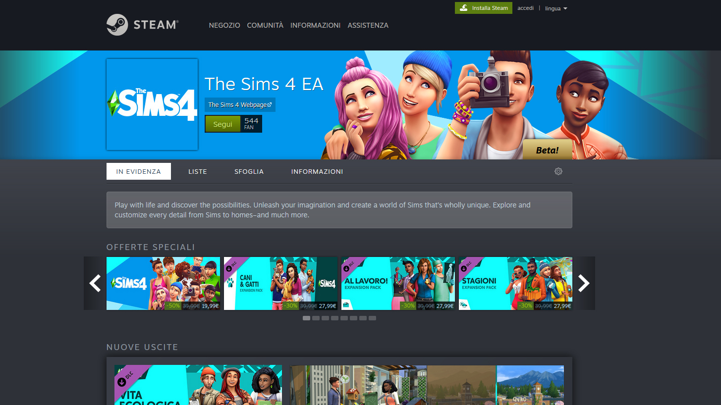 The Sims 4 Steam